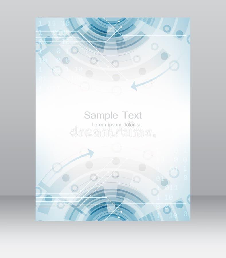 Abstract bedrijfsvliegermalplaatje, brochure of collectieve banner stock illustratie