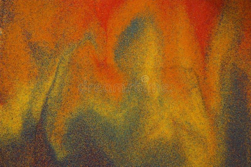 Abstract beeld dat van zand wordt gemaakt royalty-vrije stock fotografie