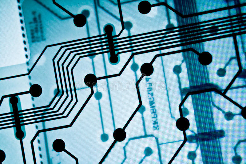 Abstract beeld van de raad van de computerkring royalty-vrije illustratie
