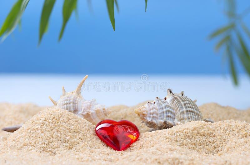 Abstract beeld van een vakantie op zee in de zomer stock afbeelding