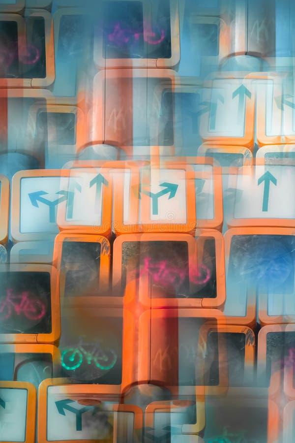 Abstract beeld van een verkeerslicht stock afbeeldingen