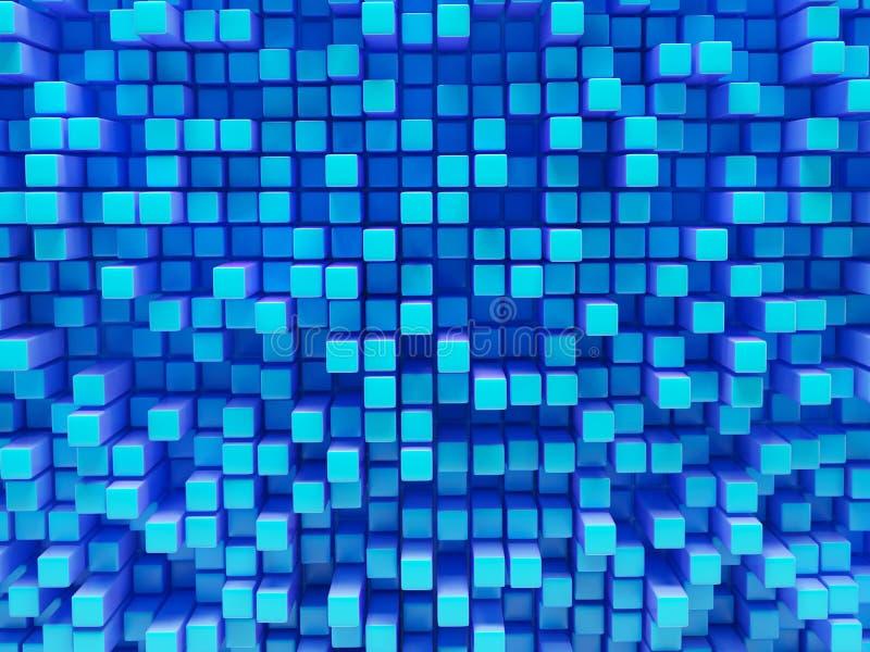 Abstract beeld van kubussen royalty-vrije illustratie