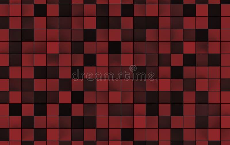 Abstract beeld van kubussenachtergrond 3D Illustratie stock illustratie