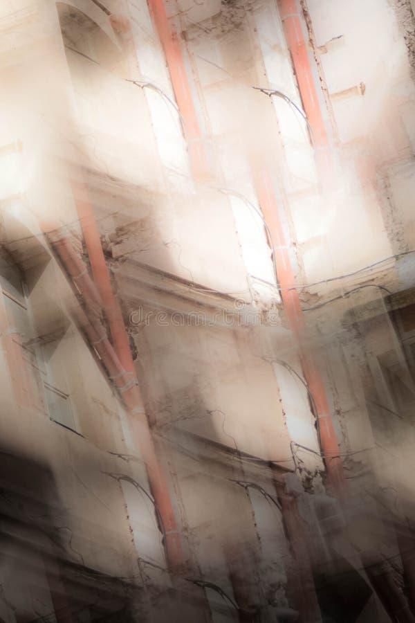 Abstract beeld van oude gebouwen stock afbeeldingen