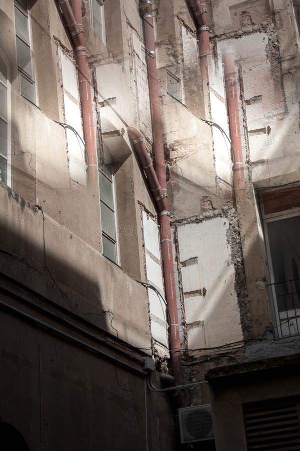 Abstract beeld van oude gebouwen royalty-vrije stock afbeeldingen
