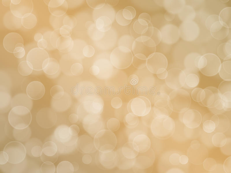 Abstract beige background with boke effect stock illustration