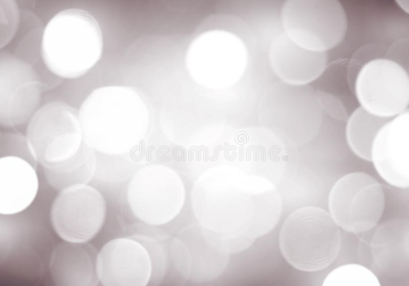 Abstract beige blurred bokeh background, white circles, gray, white, silver, holiday, light effect vector illustration