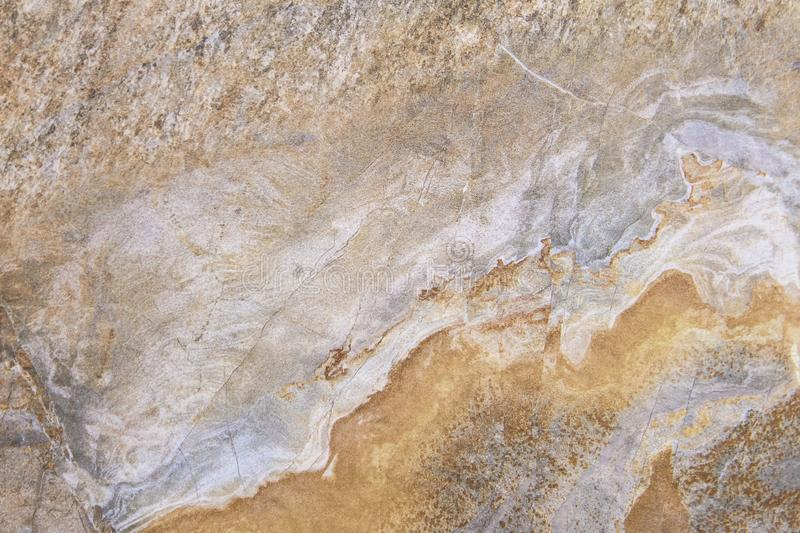 Beige brown marble texture background. Pattern close up royalty free stock photo