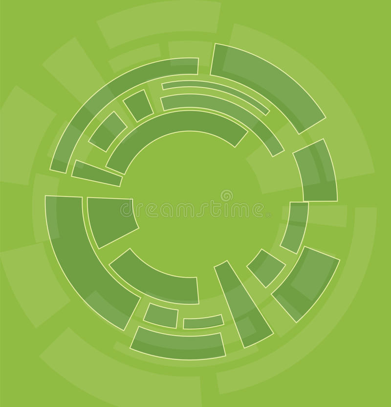 Abstract bend circle design content background royalty free illustration
