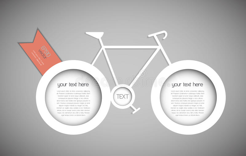 Abstract bicycle vector illustration