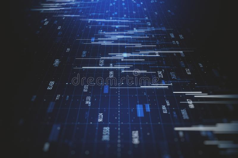 Abstract big data background vector illustration