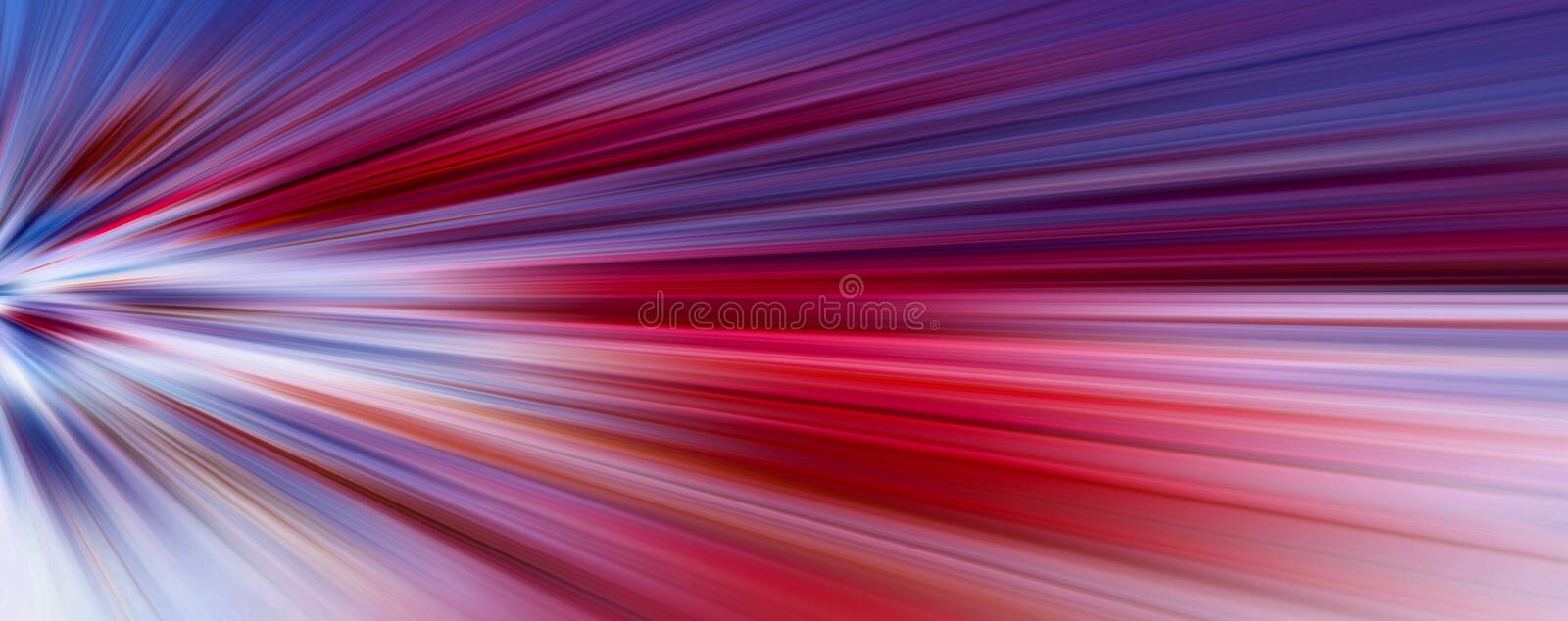 Abstract big data, colorful fibers, speed rays tunnel background, banner. 3D Illustration.  stock illustration