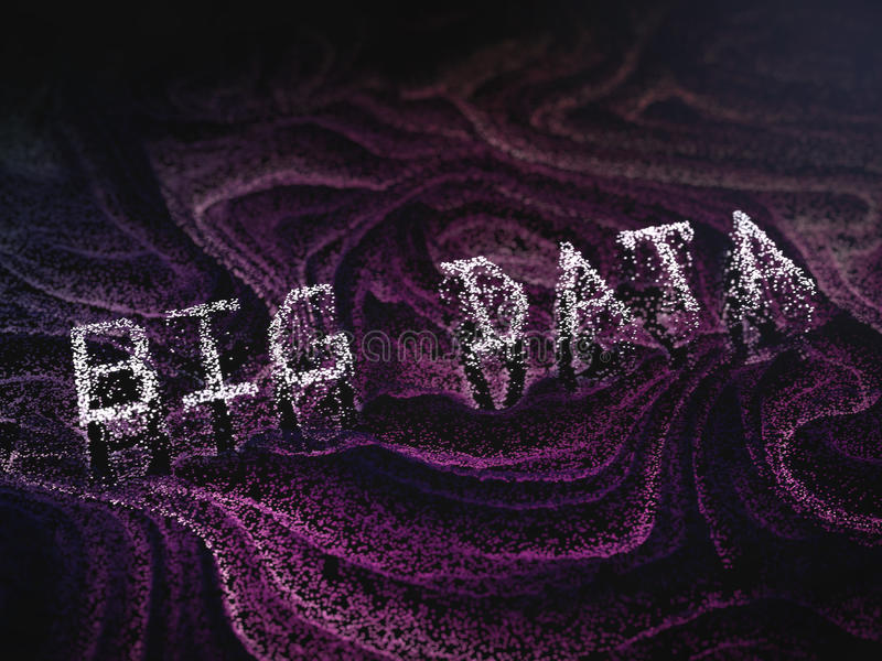 Abstract big data concept image. royalty free stock photography