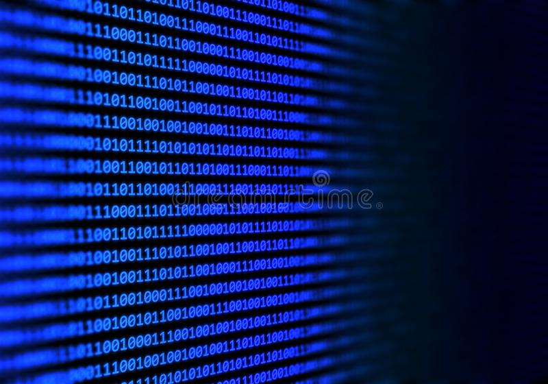 Abstract binary code background stock illustration