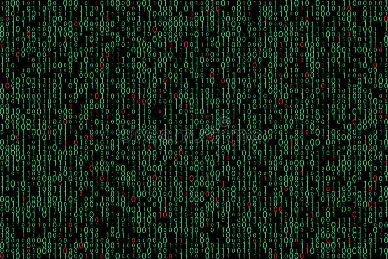 Abstract binary code background vector illustration