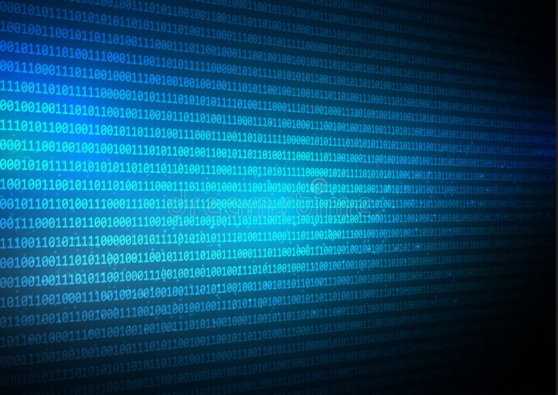 Abstract binary code techno background stock illustration