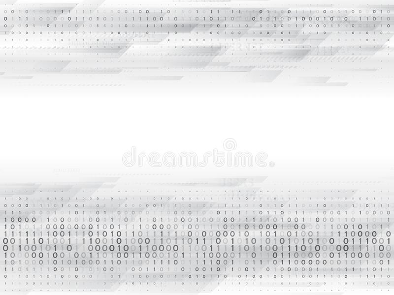 Abstract binary computer code. Hi tech digital technology on a grey background. Futuristic vector illustration vector illustration