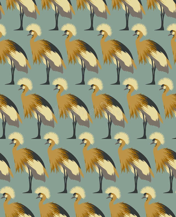 Free Abstract Birds Background, Fashion Seamless Pattern, Vector Wallpaper Stock Photo - 64906440