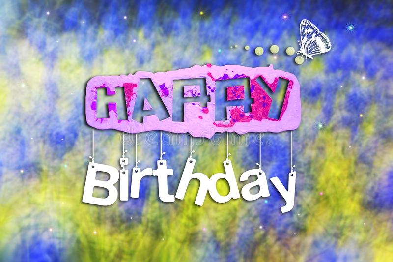 Happy Birthday abstract background card. Abstract,birthday,blue,business,card,celebration,colorful,concept,day,design,greeting,happy,holiday,illustration,light stock photos