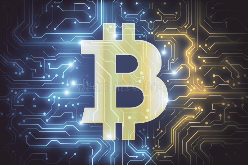 Abstract bitcoin wallpaper royalty free illustration