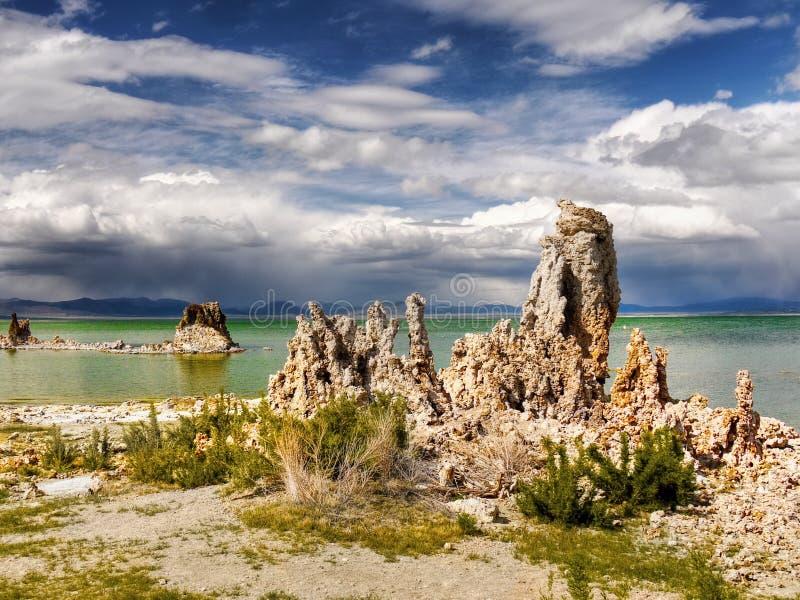 Abstract Bizarre Landscape, Mono Lake stock image