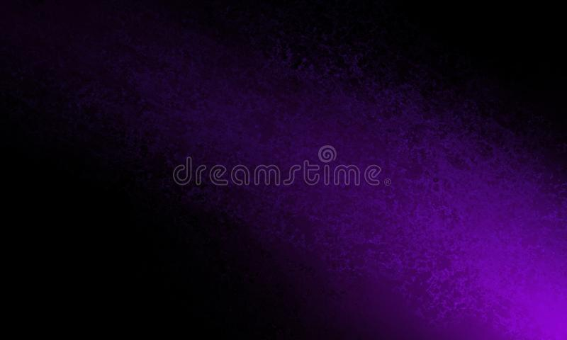 Abstract black background with bright purple color shaft of light or color splash in bottom corner stock photos