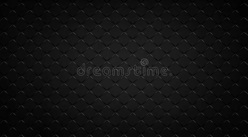 Abstract black background with diamond block grid pattern, elegant metal texture in dark techo design with lines royalty free stock image