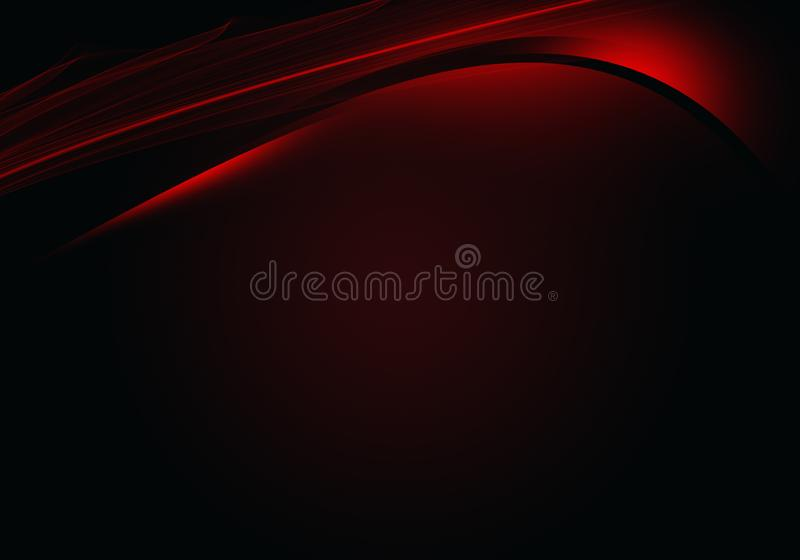 Abstract black background with dynamic lines stock illustration