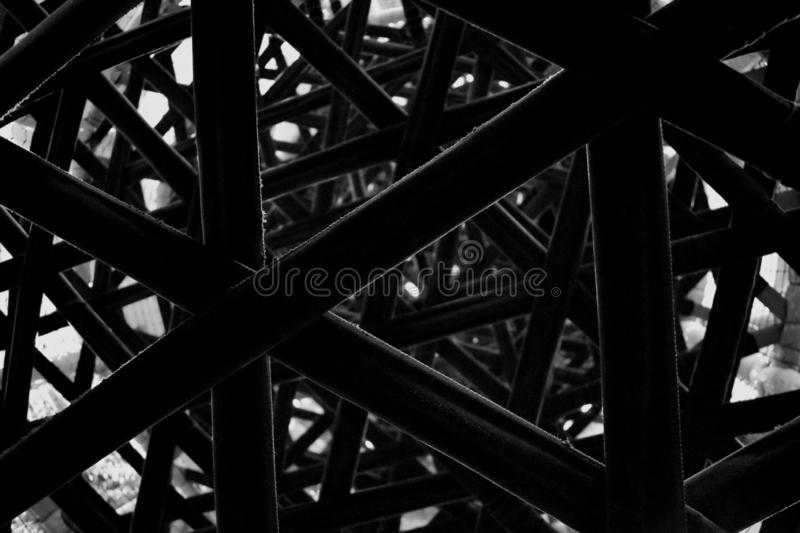 Abstract black background with lines. Design grid labyrinth. Noise stock image