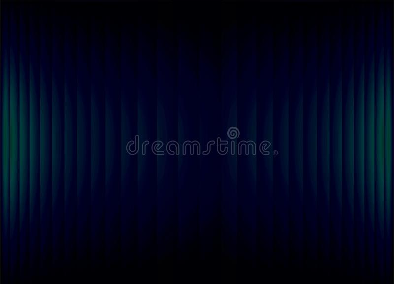 Abstract black banner background with teal blue-green neon strips . vector illustration