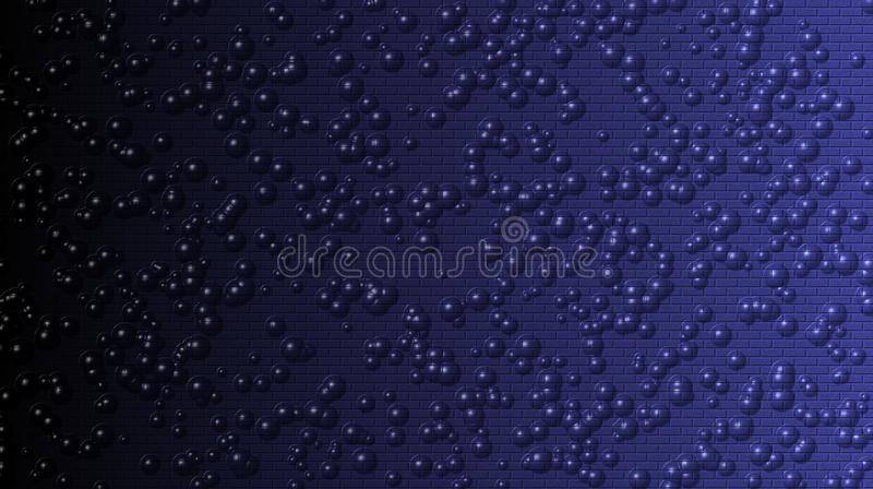 Abstract black and blue brick and bubbles texture background. Abstract black and blue background grunge background texture design with elegant antique paint on royalty free stock photography