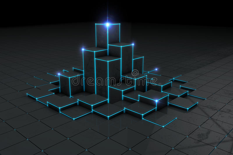 Abstract black 3d blocks background royalty free stock photos