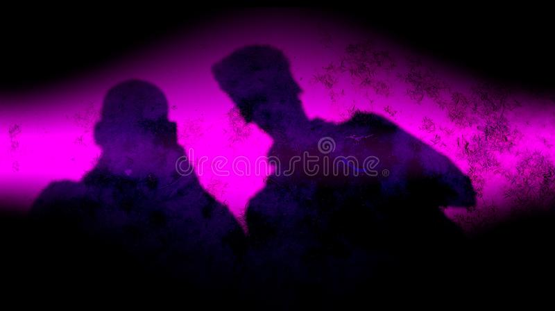 Abstract  black deep purple color mixture multi colors effects Background. stock photo