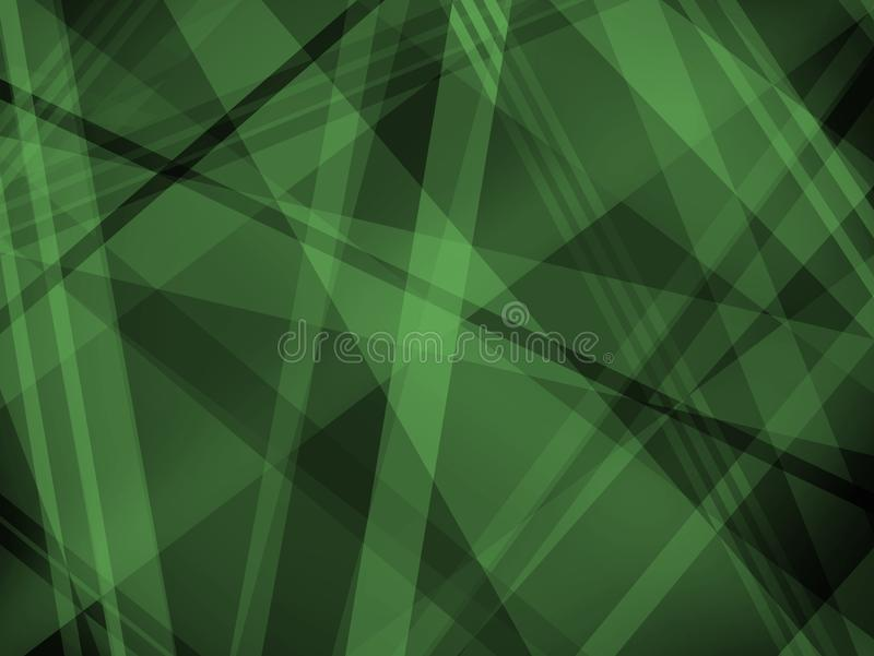 Abstract black and green background with diagonal stripe layers and shapes royalty free illustration