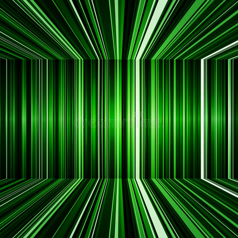 Abstract Black And Green Warped Stripes Background Stock