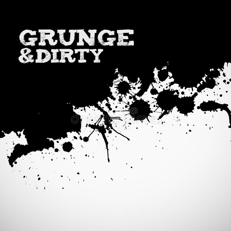 Abstract Black Grunge Background Stock Image