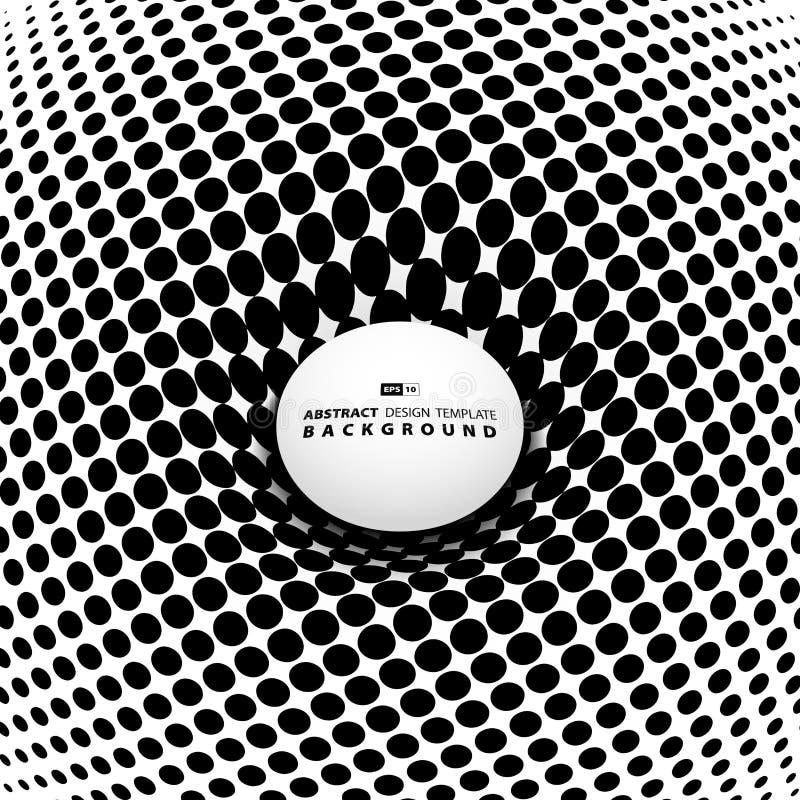 Abstract black halftone cover design. illustration vector eps10 stock illustration