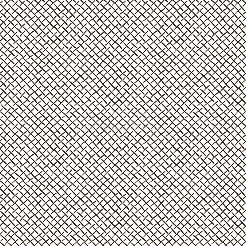 Abstract Black Hand Sketched Grid Seamless Background Pattern. Vector Illustration. Pattern Swatch. Ink Drawing vector illustration