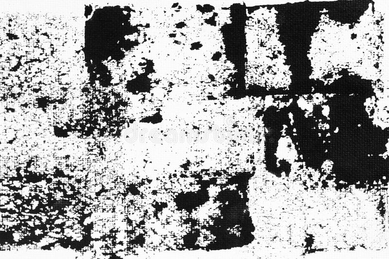 Abstract black ink splash on white paper. Grunge textured for abstract stock template. Black liquid splattered on white background royalty free stock photography