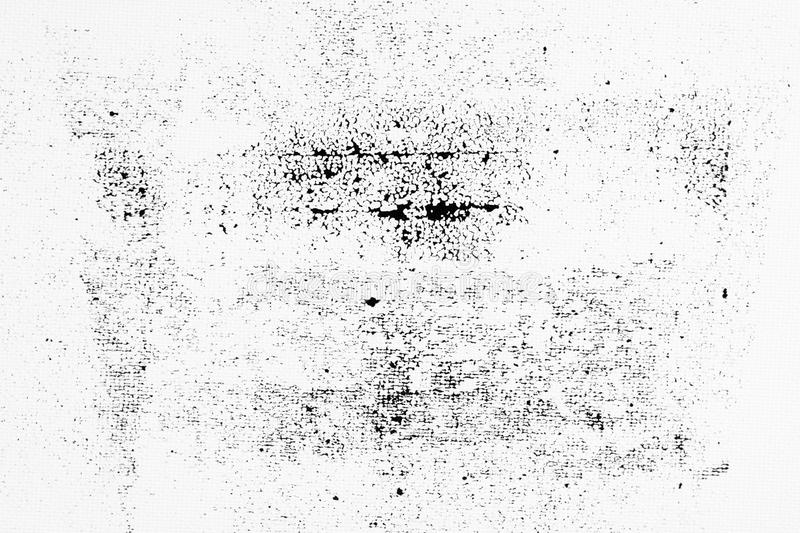 Abstract black ink splash on white paper. Grunge textured for abstract stock template. Black liquid splattered on white background stock photo