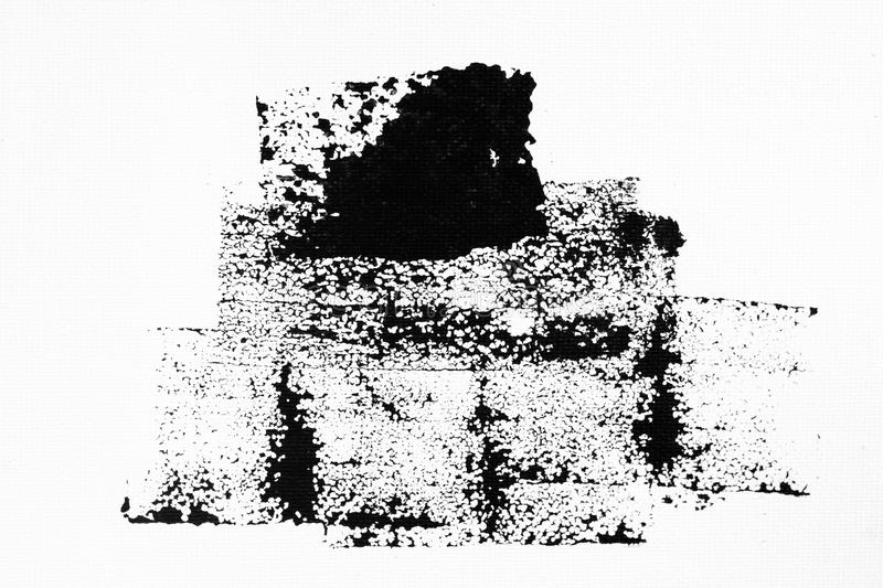 Abstract black ink splash on white paper. Grunge textured for abstract stock template. Black liquid splattered on white background stock photography