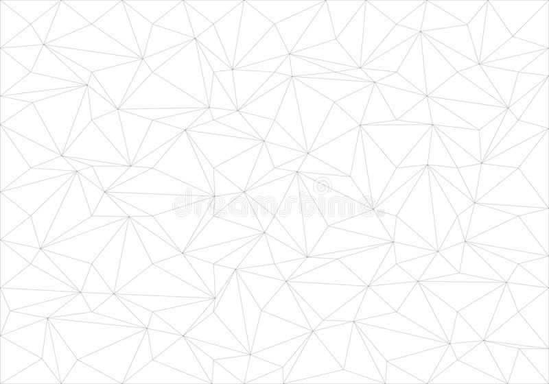 Abstract black line thin polygon pattern on white background texture vector. Illustration royalty free illustration