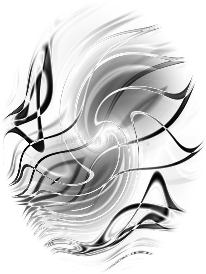 Abstract Black Lines Pattern. A creative and decorative digital art design accent in black and white with flowing lines and curves vector illustration