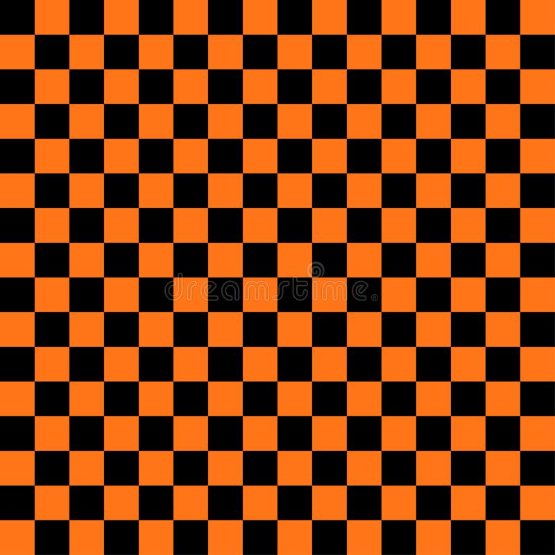 Abstract black and orange color square background for halloween theme royalty free illustration