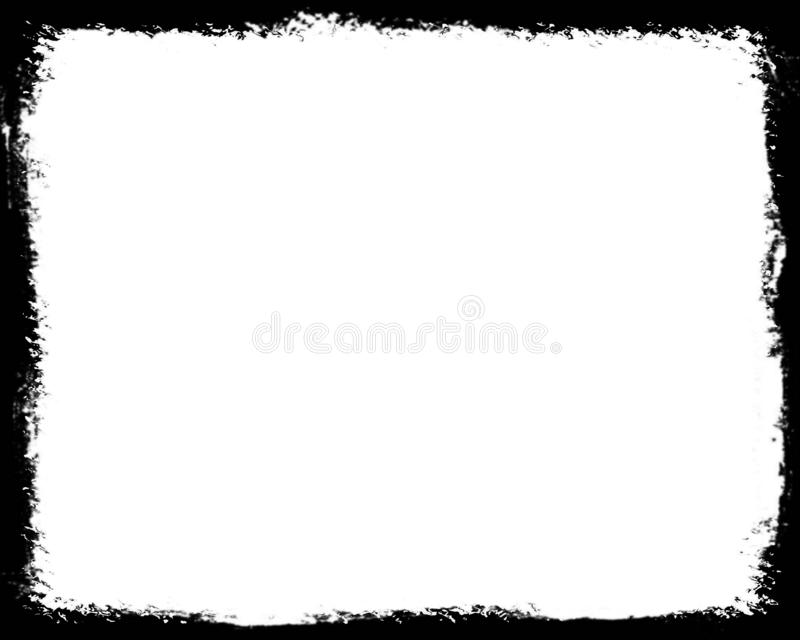 Abstract Black Photo Border For Landscape Photos royalty free illustration