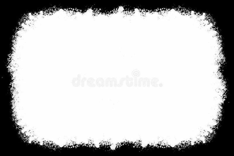 Abstract Black Photo Edges For Landscape Photos vector illustration