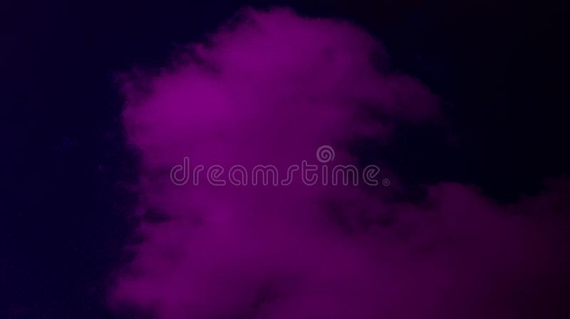 Abstract black plum color mixture multi colors effects smoky fog background. royalty free stock photography