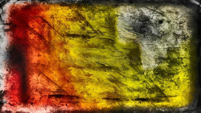 Abstract Black Red and Yellow Glass Effect Paint Background Beautiful elegant Illustration graphic art design Background. Image vector illustration