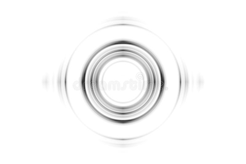 Abstract black rings sound waves effect on white background royalty free stock photo