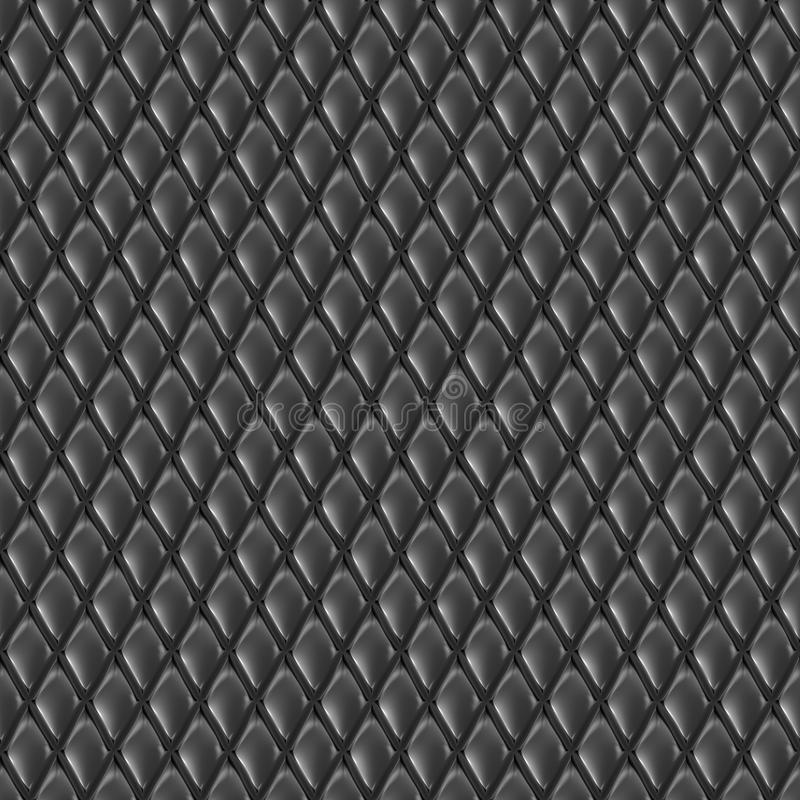 Abstract seamless diamond pattern. Abstract black seamless diamond pattern or texture stock illustration